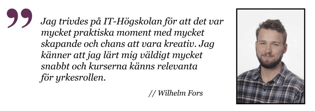 Wilhelm Applikationsutvecklare